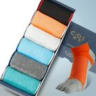 6 Pairs Men's Pure Cotton Toe Low Cut Socks Breathable Sports  Five Finger Socks