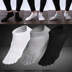 1 Pair Mens Cotton Toe Five Finger Socks Solid Ankle Sports Breathable Low Cut