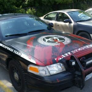 Umbrella Corporation Response Team at Walmart residentevil capcom zombies