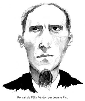 drawing of Le Matin editor Felix Feneon, by Jeanne Picq