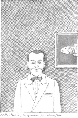 Pierre Le Tan's drawing of Katz Meow, from John Train's Remarkable Names
