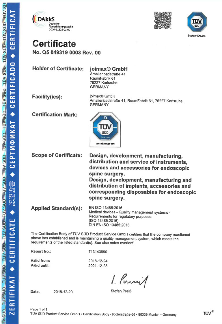 reference certificate