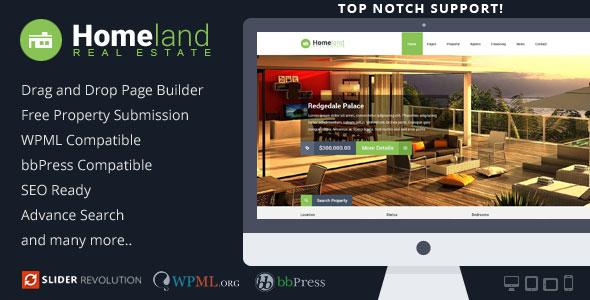 Homeland v314 - Responsive Real Estate WordPress Theme