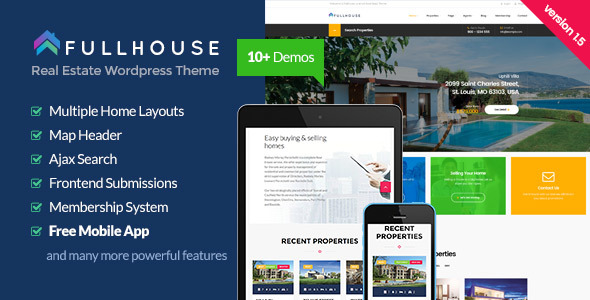 FullHouse v181 - Real Estate Responsive WordPress Theme