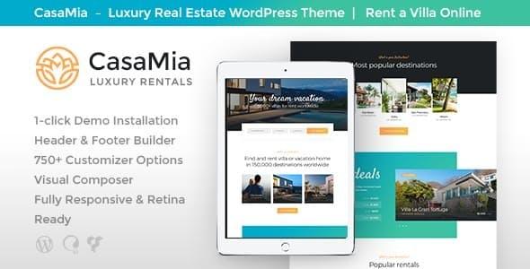 CasaMia v111 - Property Rental WordPress Theme
