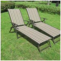 Patio Outdoor Sling Chaise Lounge Chair Set Of 2 Furniture ...