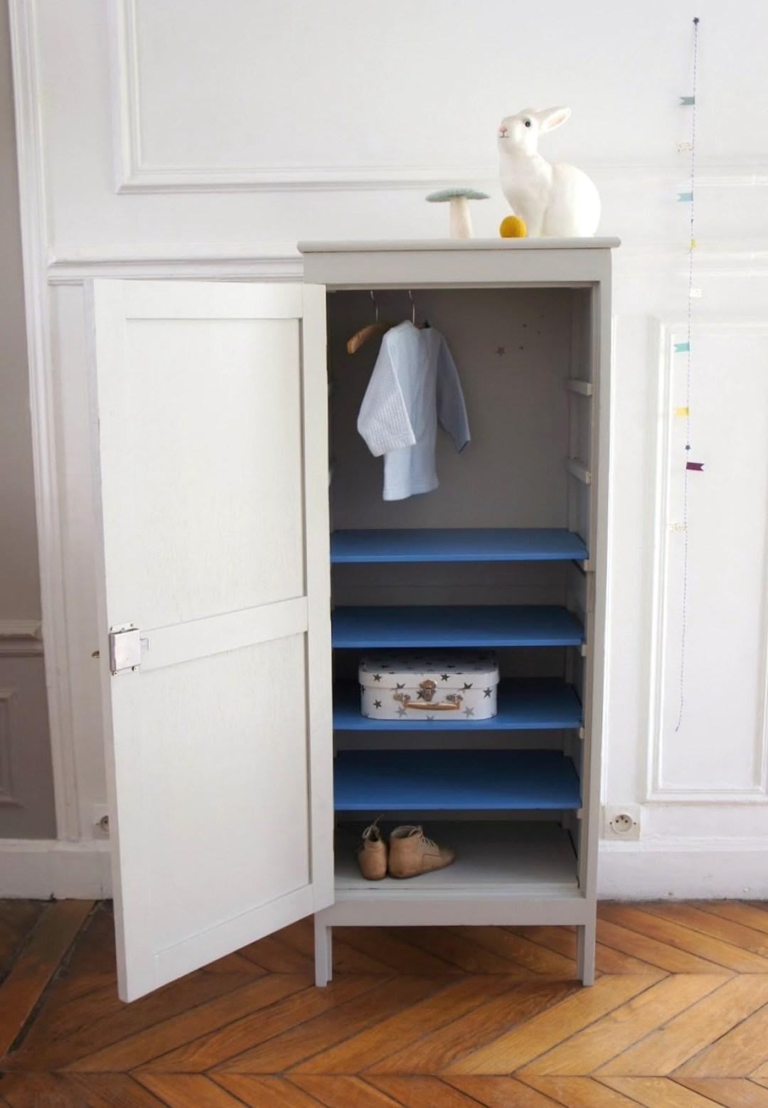 Dressing vintage pour chambre d 39 enfant joli tipi - Petite armoire chambre ...