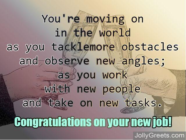 Congratulations for new job New job poems - congrats on new position