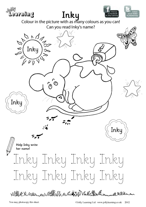 Colouring Worksheets \u2013 Jolly Learning