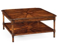 Square Rustic Walnut Coffee Table