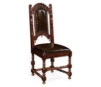Elizabethan Style Dark Oak Side Chair for Medium English ...