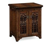 Dark Oak Gothic Wine Cabinet Small
