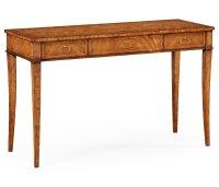 Crotch Walnut Narrow Desk or Side Table