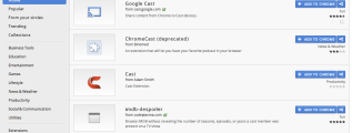 Google Chrome Extensions Webstore Chromecast
