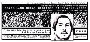 Peace, Land, Bread, Cabbages, Cakes & Cucumber.
