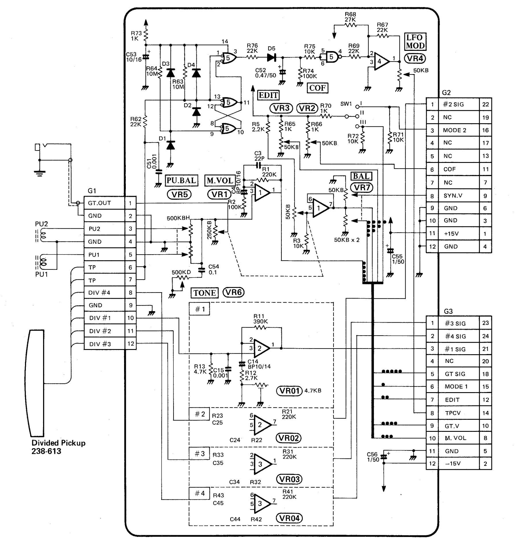 guitar wiring schematics in series