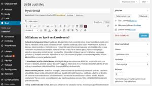 WordPress editori