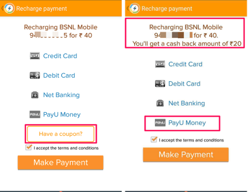 komparify mobile recharge offer