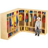 Jonti-Craft Corner Coat Locker w/Step, 6686JC, Jonti-Craft ...
