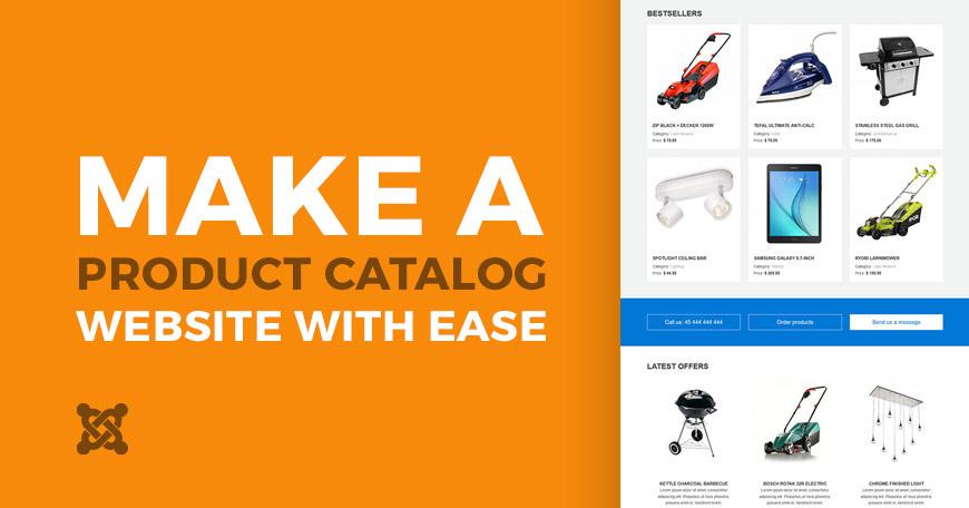 Online Product Catalog with Joomla Template - Joomla-Monster