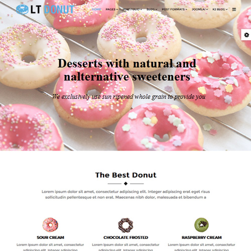 Download Free LT Donut Joomla Bakery Template