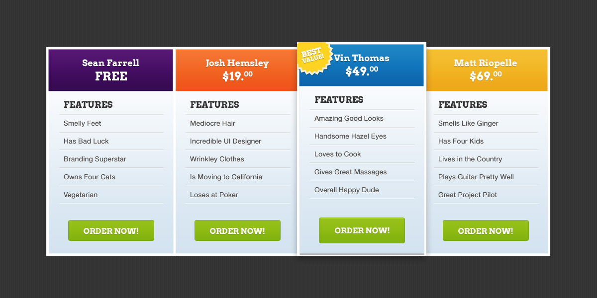 How to Choose the Best Joomla Template for Your Website? - price list design template
