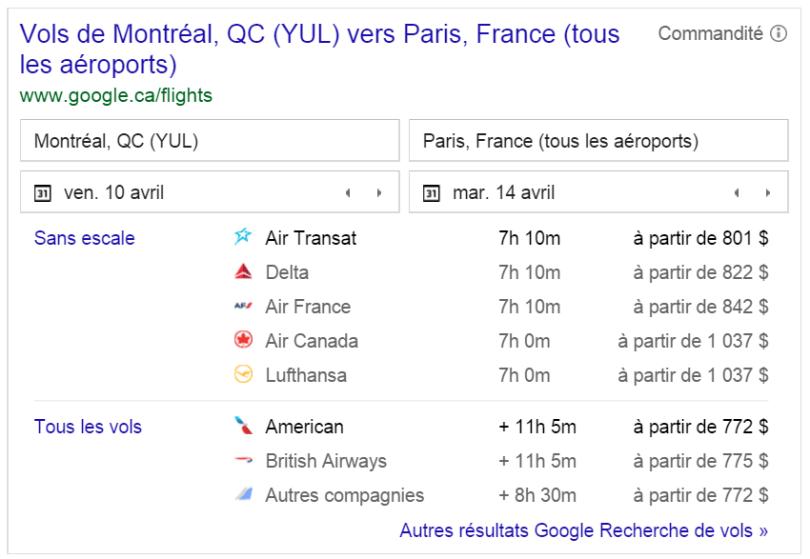 Pourquoi et comment google va manger les comparateurs de vol blog e commerce joptimisemonsite - Google comparateur de vol ...