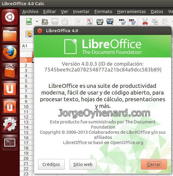 Libre Office 4 en Ubuntu