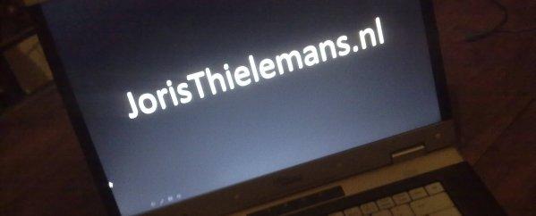 joristhielemans.nl op scherm