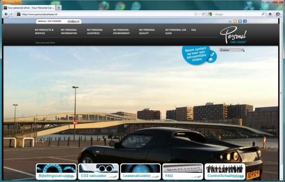 pcl.nl homepage screenshot Tesla