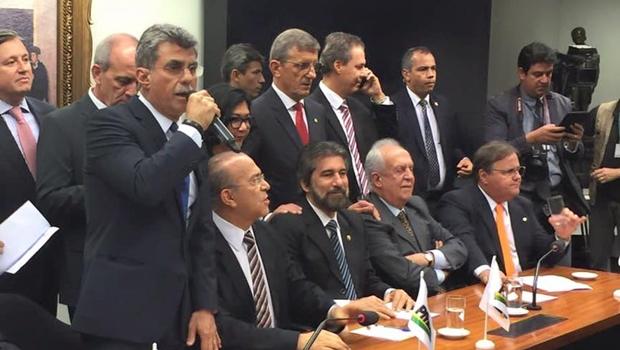 Senador Romero Jucá discurso durante o evento | Foto: reprodução / Facebook