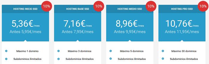 Clic parar contratar un hosting y un dominio para WordPress