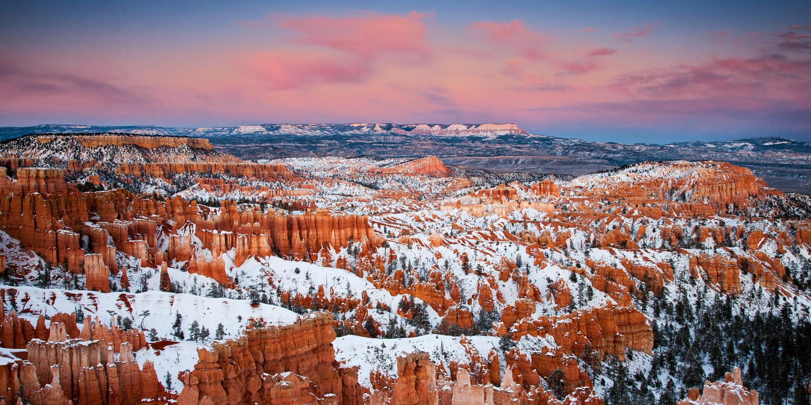 Screen Scratch Wallpaper Hd Winter Sunset Bryce Canyon National Park Utah Fine