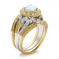 Custom Two-Tone Gold and Yellow and White Diamond ...