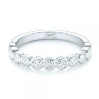 Custom Bezel Set Diamond Wedding Band #102474