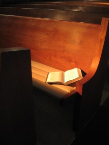 Bible in pew - by sraburton
