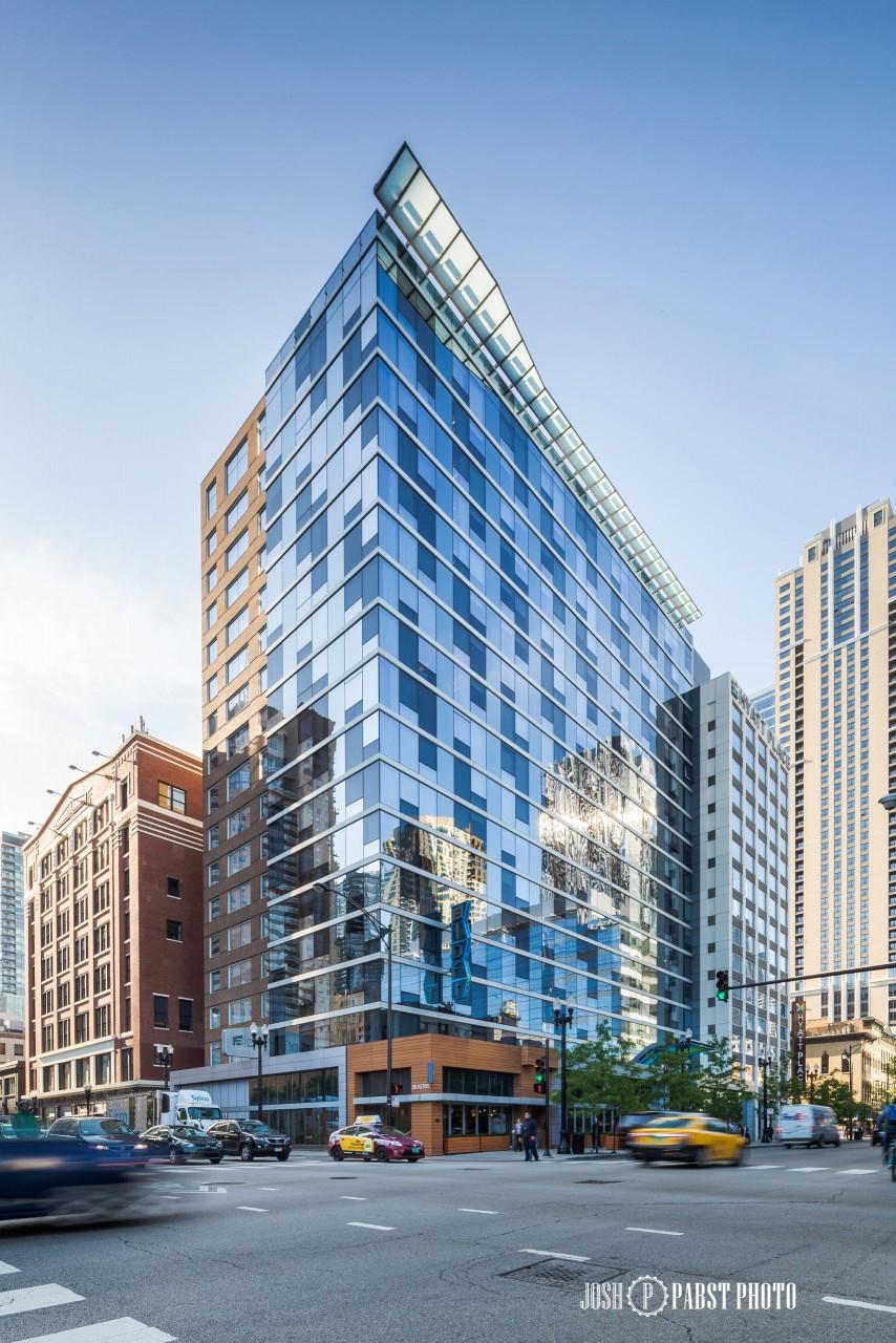 Skyscraper Wallpaper Hd Aloft Hotel Chicago Architecture Photography