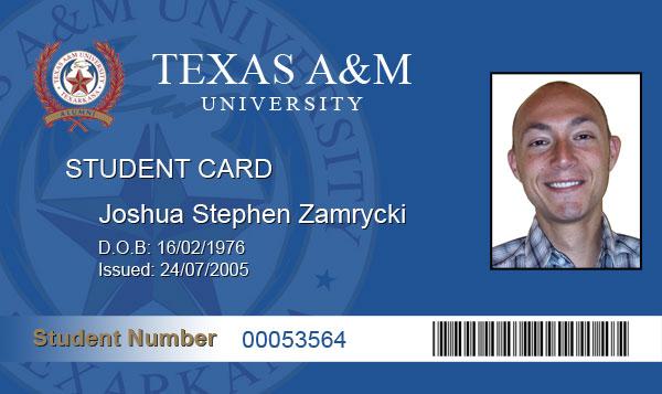 Fake ID Joshua Zamryckiu0027s Weblog - id card psd template