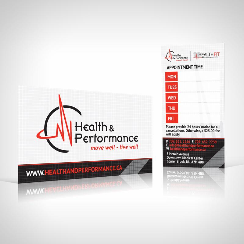 Health  Performance Appointment Cards - JOsmond Design