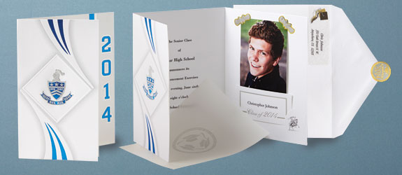 Traditional High School Graduation Announcements