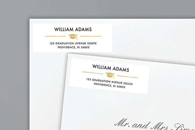 Complete Your Announcement - Sample Return Address Label