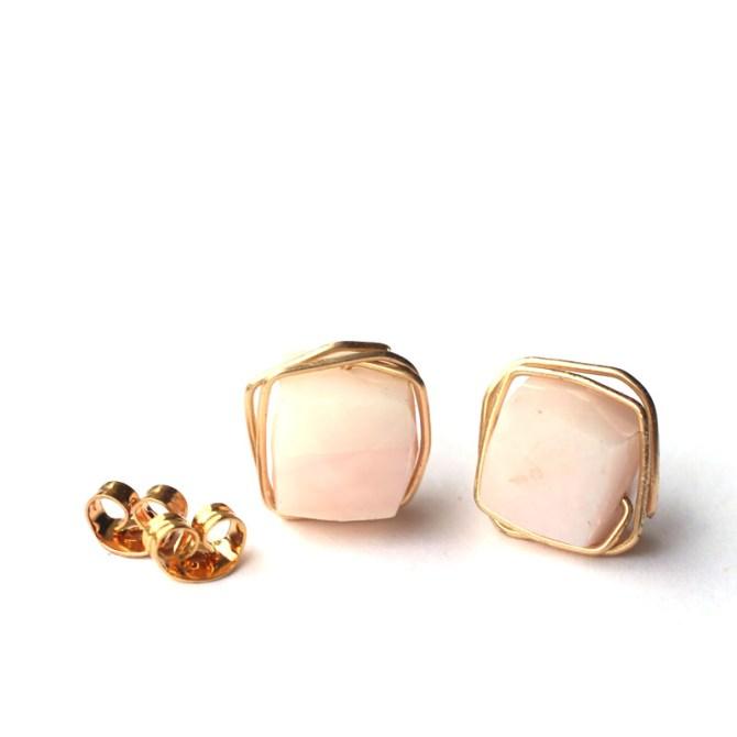 peruvian-pink-opal-wire-wrap-gemstone-studs-handmade