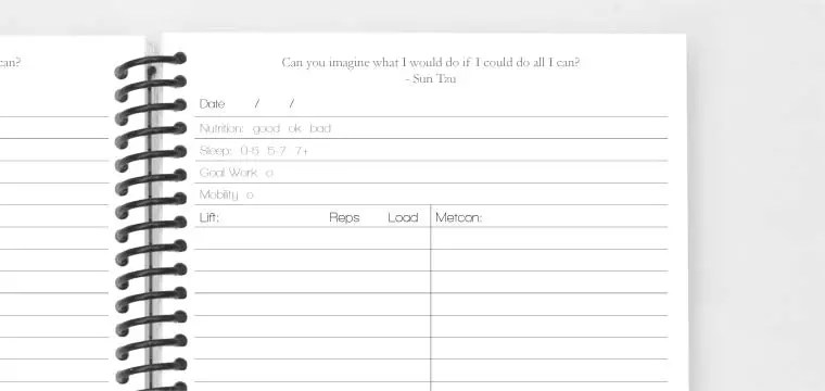 Create the Perfect Fitness Journal, Training Log or Personalized