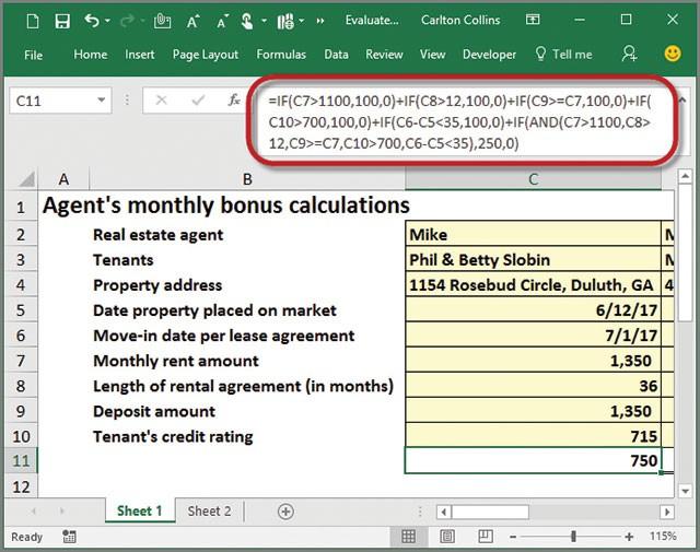 Microsoft Excel How to evaluate complex formulas - Journal of