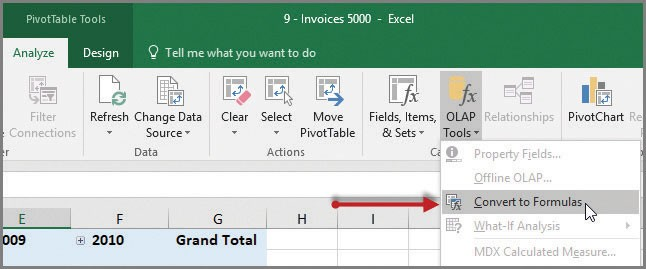 Convert your Excel PivotTable to a formula-based report - Journal of
