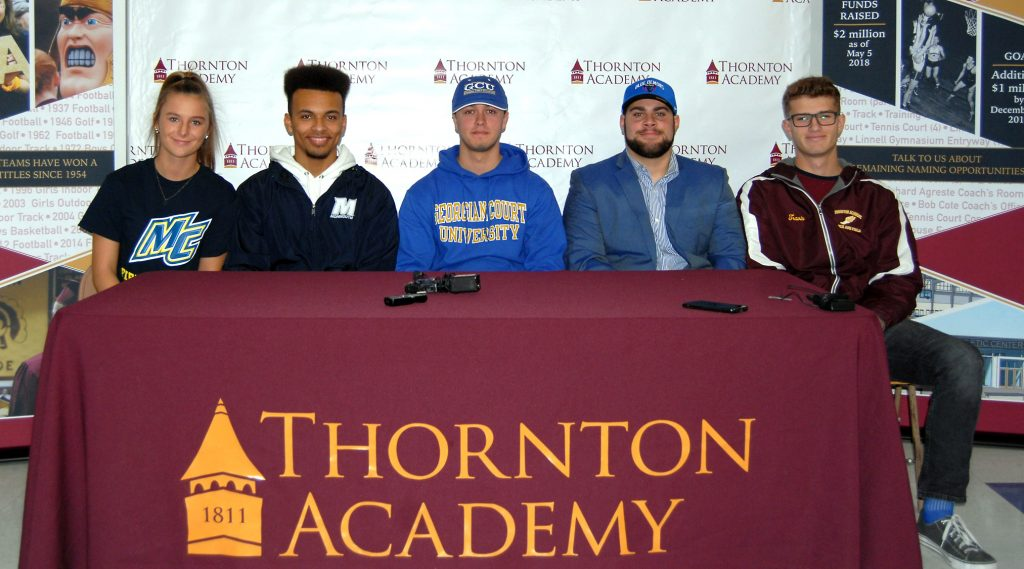 Thornton Academy standouts sign National Letters of Intent Journal