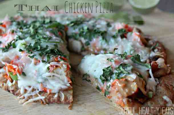 Thai Chicken Pizza 7