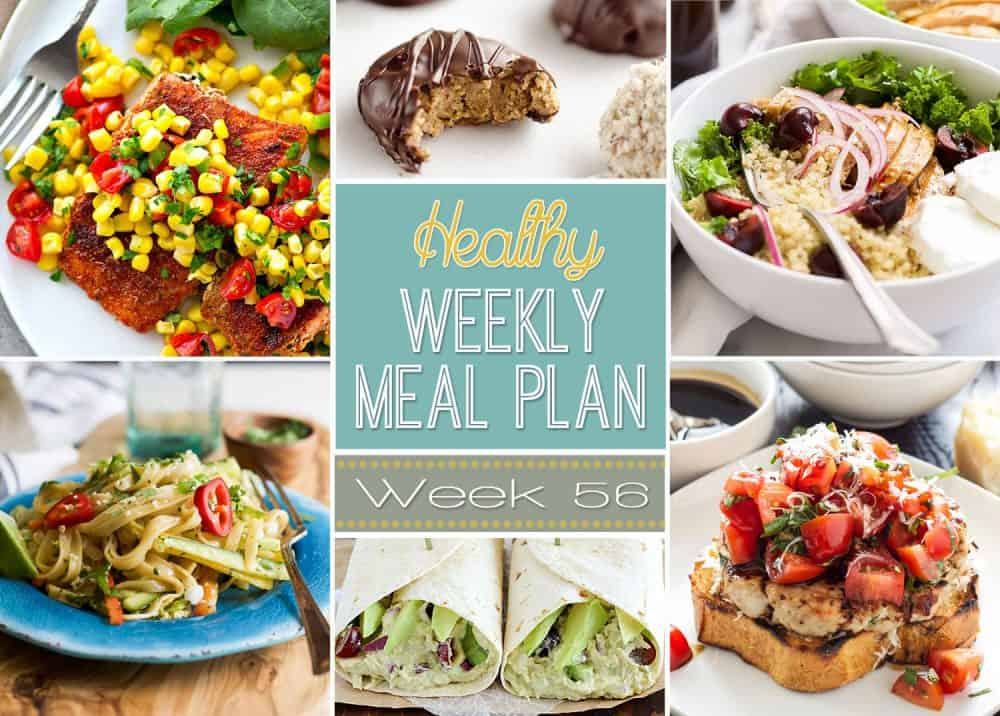 Healthy Meal Plan Week #56 Easy Healthy Recipes - weekly healthy meal plan