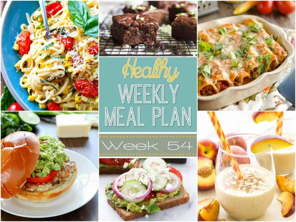 Healthy Meal Plan Week #54 Easy Healthy Recipes
