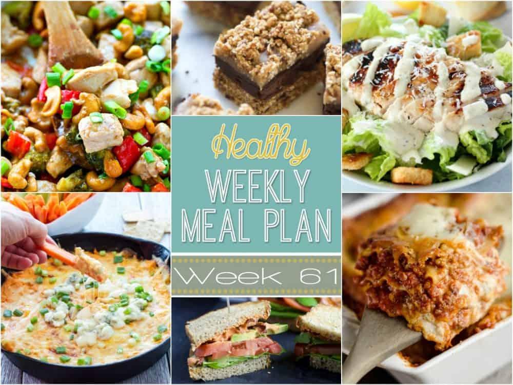Healthy Meal Plan Week #61 Easy Healthy Recipes